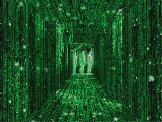 Matrix door with 3 people